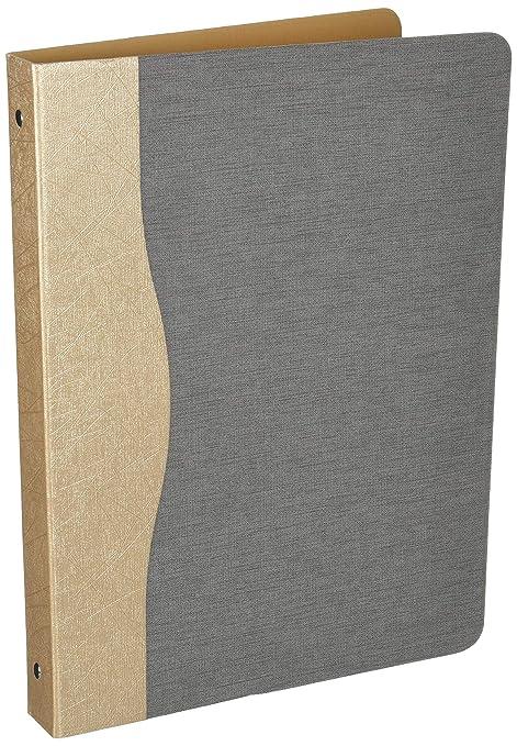 amazon com office document 3 ring binder portfolio with 1 inch
