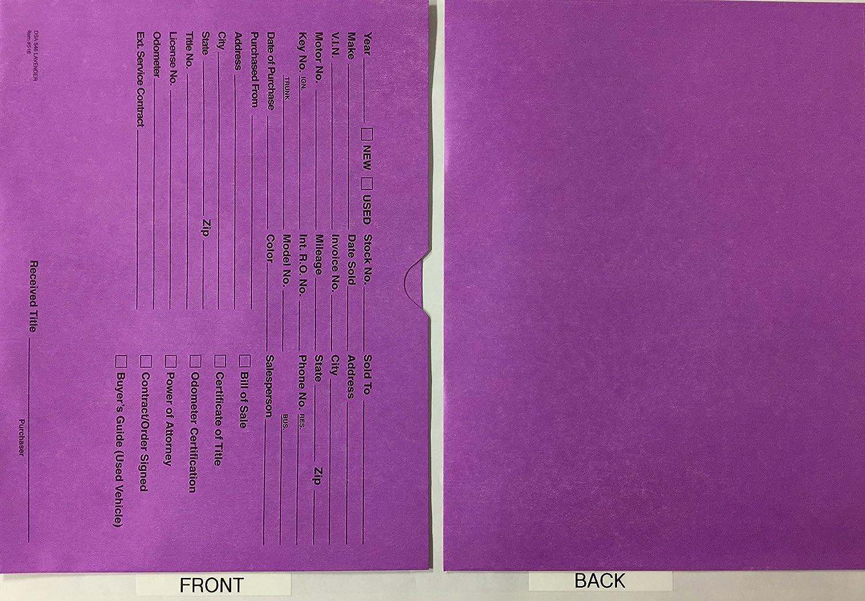 Vehicle Deal Jackets (Lavender), 100 Quantity (R74R)