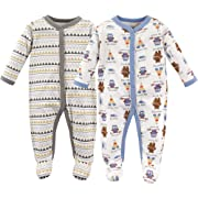Luvable Friends Baby Cotton Snap Sleep and Play, Be Brave 2 Pack, 6-9 Months (9M)