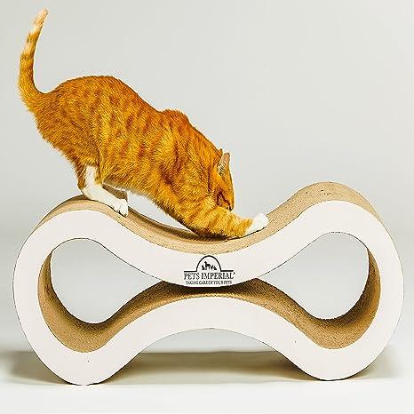 Tumbona para rascador de gatos con perlas blancas (82 cm x 28 cm x ...