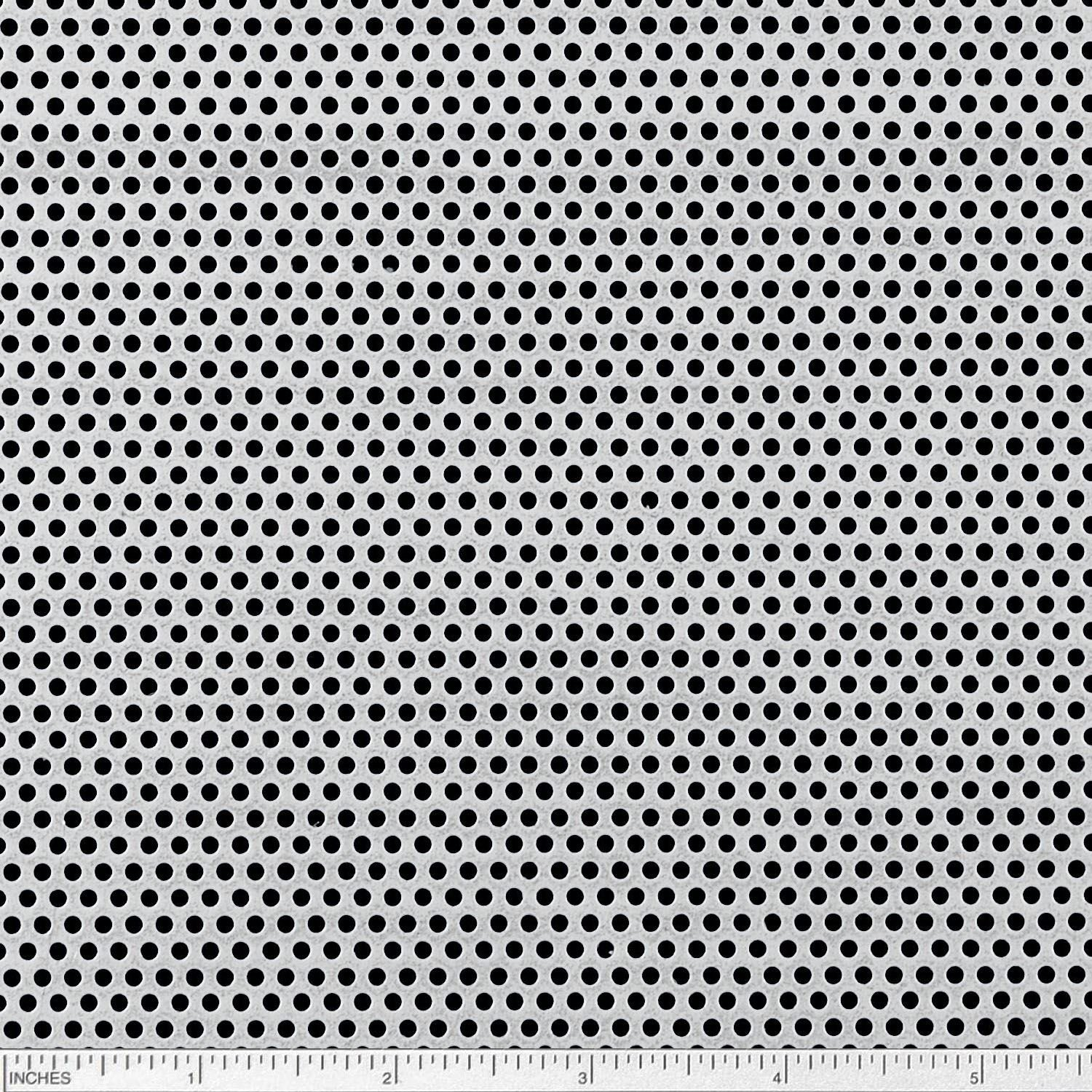 Online Metal Supply Steel Perforated Sheet, Thickness: 0.075 (14 ga.), Width: 12', Length: 24', Hole Size: 0.093 (3/32), Staggered 0.156 (5/32) Width: 12 Length: 24