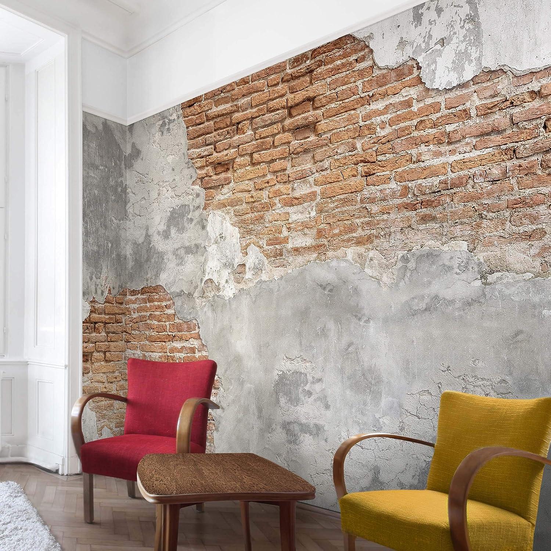 Shabby brick wall Dimension HxL: 290cm x 432cm Mural Large papier peint photo intiss/é tableau mural photo 3D mural Bilderwelten Papier peint intiss/é