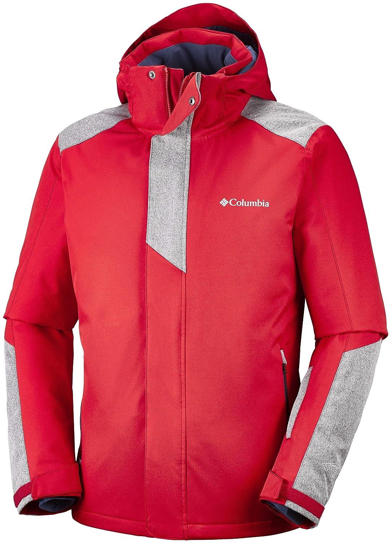 Columbia Uomo Winter Jacket Pala Peak, Dimensione L, Colore Red Spark Dark Mountain