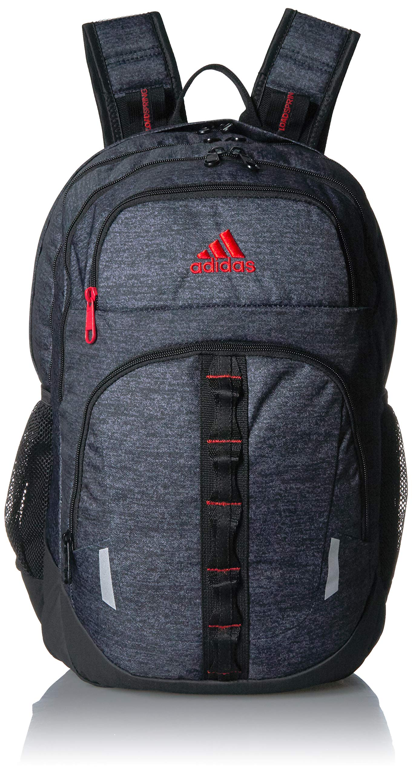adidas Unisex Prime Backpack, Black Jersey/Active Red, ONE SIZE by adidas