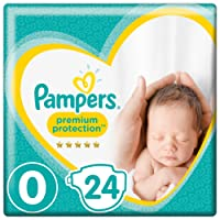 Pampers New Baby Micro, 144 Diapers, Size 0 (1.5-2.5 kg)/(1-2.5kg), 6 packs of 24