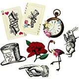 Talking Tables Pack of 8 Alice in Wonderland Props Oversized Decorations, Supplies For Mad Hatter Party, Birthday, Afternoon