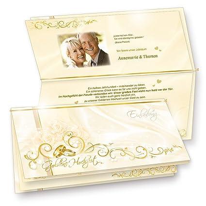 Hochzeitskarten Goldene Hochzeit 40 Sets Hinreissend Fein Abgestimmte Einladungskarten Set Mit 40 Karten 40 Umschläge 40 Einlegeblätter Zum