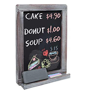 MyGift Wall Mounted Decorative Rustic Style Wood Framed Chalkboard Memo Message Board/Erasable Store Sign