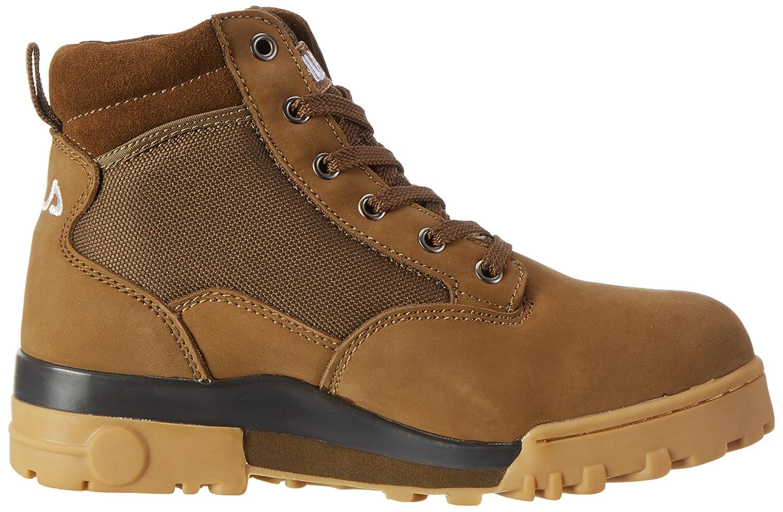 Grunge Mid FW 02364 Col.203 - botas de caño bajo de piel unisex, color marrón (after dark), talla EU 39 (UK 5.5) Fila