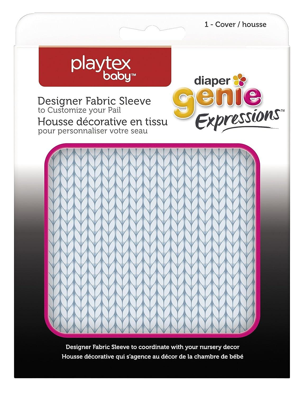 Blue Knit Playtex Diaper Genie Expressions Diaper Pail Fabric Sleeve