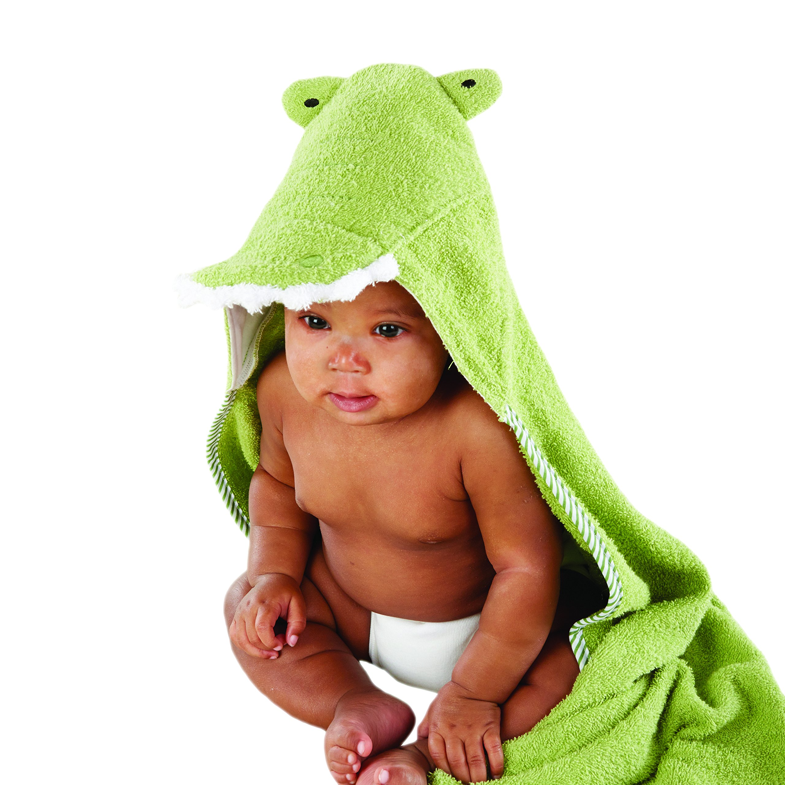 Baby Aspen Splash-A-While Crocodile Hooded Spa-Towel, Green by Baby Aspen
