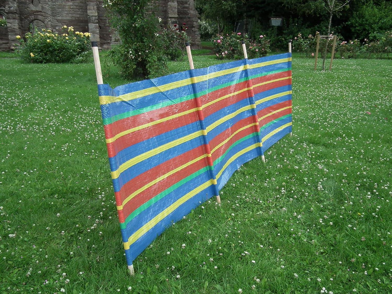 4 barra de 3 secciones para exteriores de playa Camping Holiday cortavientos paravientos nuevo