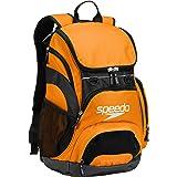 Speedo Large Teamster Backpack 35-Liter, Bright Marigold/Black, One Size