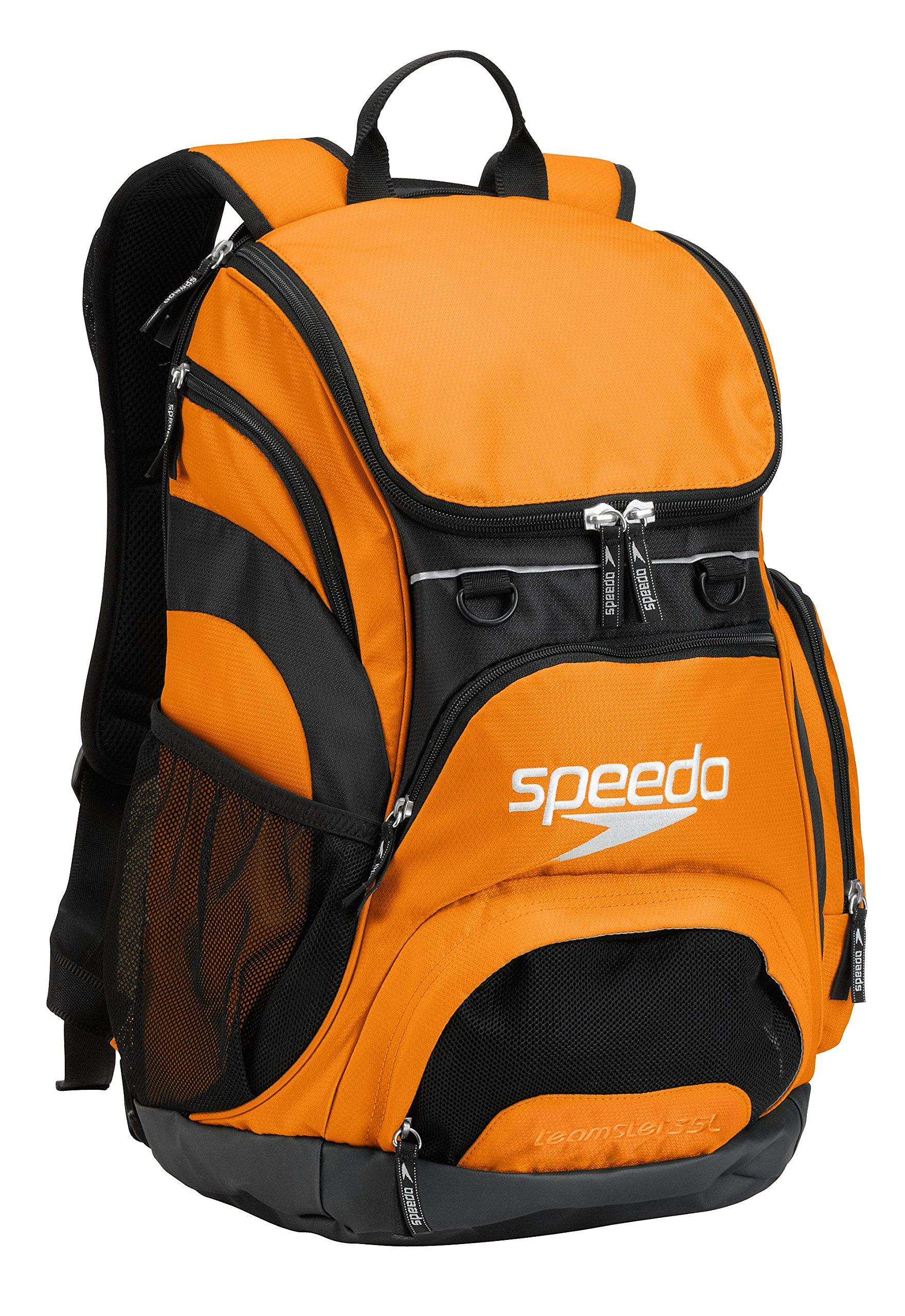 Speedo Printed Teamster 35L Backpack, Bright Orange/Black, 1SZ