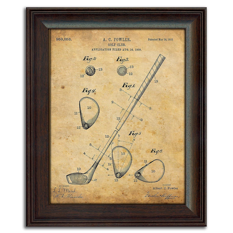Amazon.com: Personal Prints Framed Golf Patent Art Prints - 14 in X ...