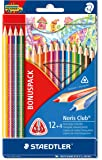 STAEDTLER étui de 16 crayons de couleur STAEDTLER Noris Club triplus pack avantage dont 4 gratuits