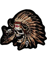 "Hot Leathers Indian Skull Patch (12"" Width x 1"" Height)"