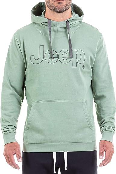 Jeep Mens Kapuzen-durchg/ängiger Reissverschluss Stickerei J8w Sweatshirt