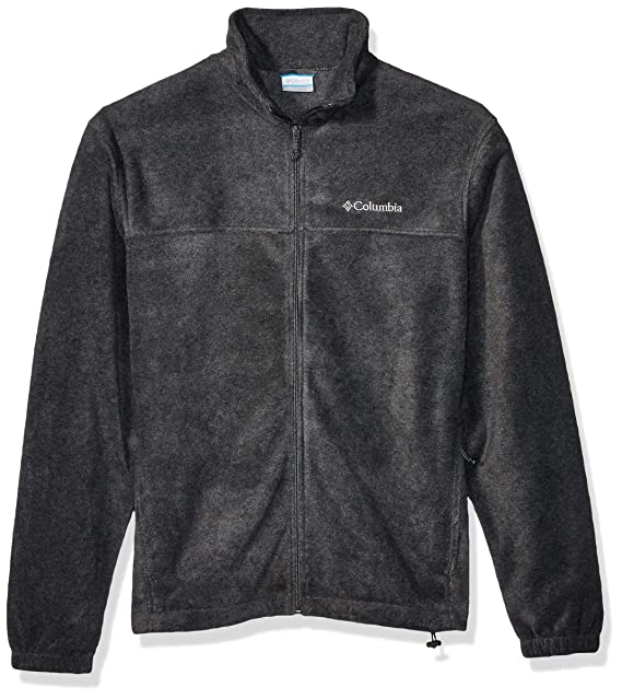 Columbia Mens Steens Mountain Full Zip 2.0 Fleece Jacket, Charcoal Heather, Medium
