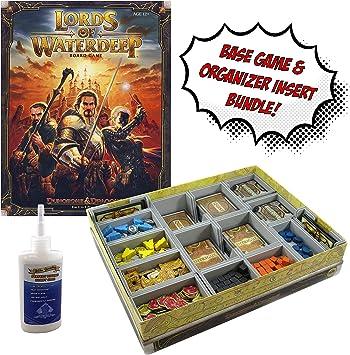 Lords of Waterdeep: un Juego de Mesa de Dungeons & Dragons + Organizador de inserción de Evacore Ajustable + Pegamento Dorado de Groundhog – Paquete de Juego de Mesa.: Amazon.es: Juguetes y juegos