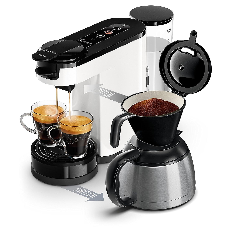 machine /à dosettes + machine /à caf/é filtre Philips HD6592//01 Machine /à caf/é SENSEO Switch 2 en 1 Blanc