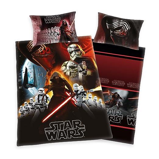Herding Star Wars - Juego de cama, algodón, rojo, 135 x 200 cm: Amazon.es: Hogar