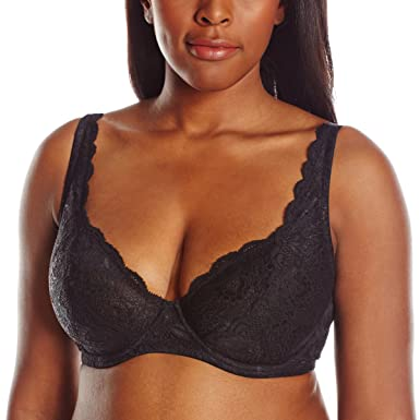b081b5e16eb Cosabella Women s Never Say Never Bustie Full Size Bra NEVER1142 Black 32D