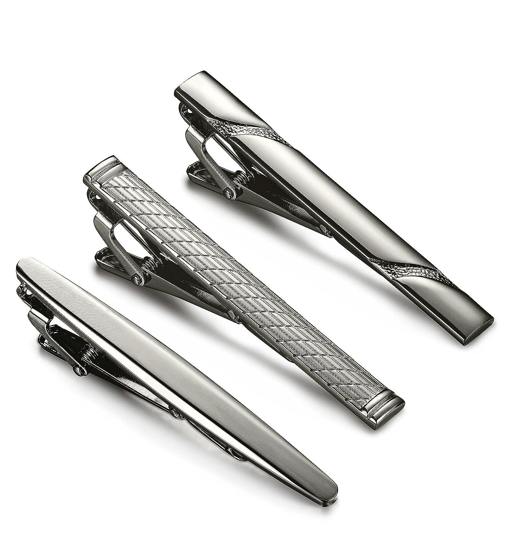 Jstyle 4 Pcs Tie Clips for Men Tie Bar Clip Set for Regular Ties Necktie Wedding Business Clips LDJ445-4