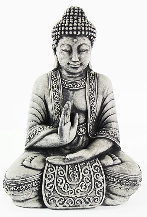 Cement Meditating Sitting Buddha Garden Statue Outdoor Concrete Asian Statue  Chinese Japanese Cast Stone Yoga Studio