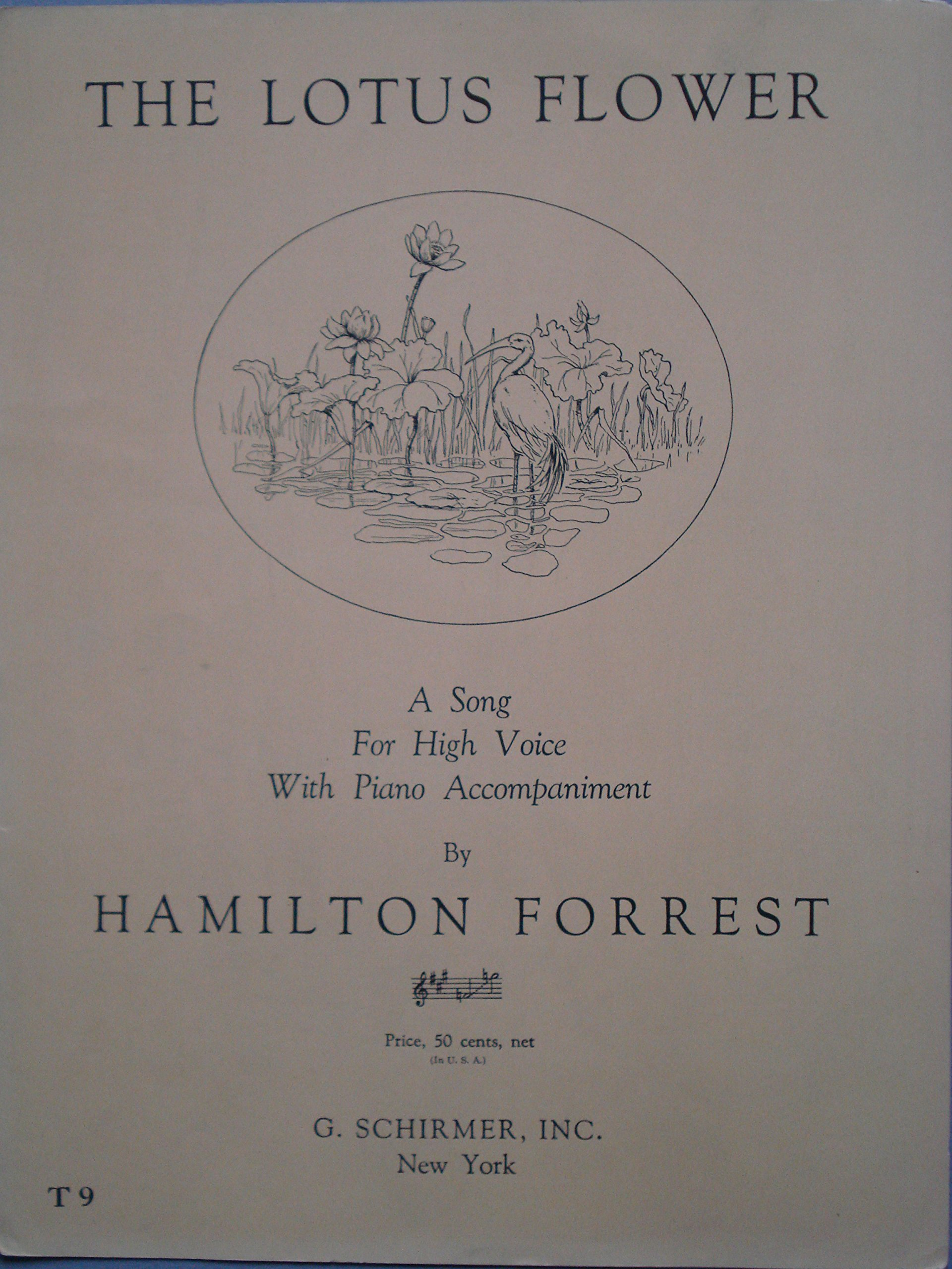 The lotus flower a song for high voice with piano accompaniment f the lotus flower a song for high voice with piano accompaniment f to g words and music by hamilton forrest hamilton forrest hamilton forrest izmirmasajfo