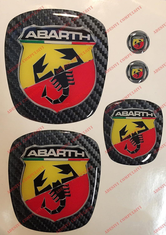 Logo delantero y trasero, volante y 2 logos para el llavero, para capó y maletero, adhesivos de resina, efecto 3D, decoración de escorpión, fondo de ...