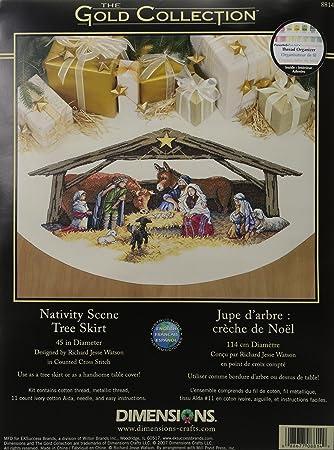 Dimensions Needlecrafts Counted Cross Stitch Nativity Scene Tree Skirt