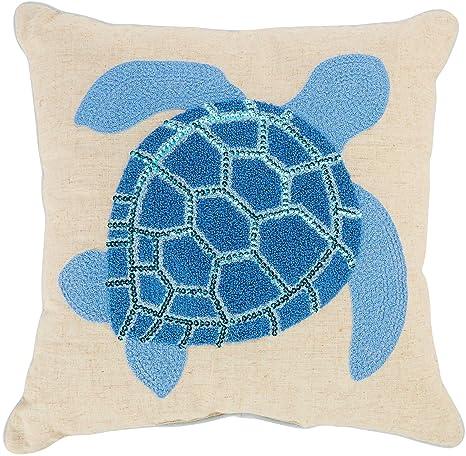 Amazon.com: Arlee Terrapin tortuga almohada decorativa talla ...