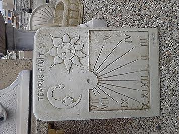 CATART Reloj DE Sol EN Piedra Pared Exterior Tempus FUGIT 59X38cm.: Amazon.es: Jardín