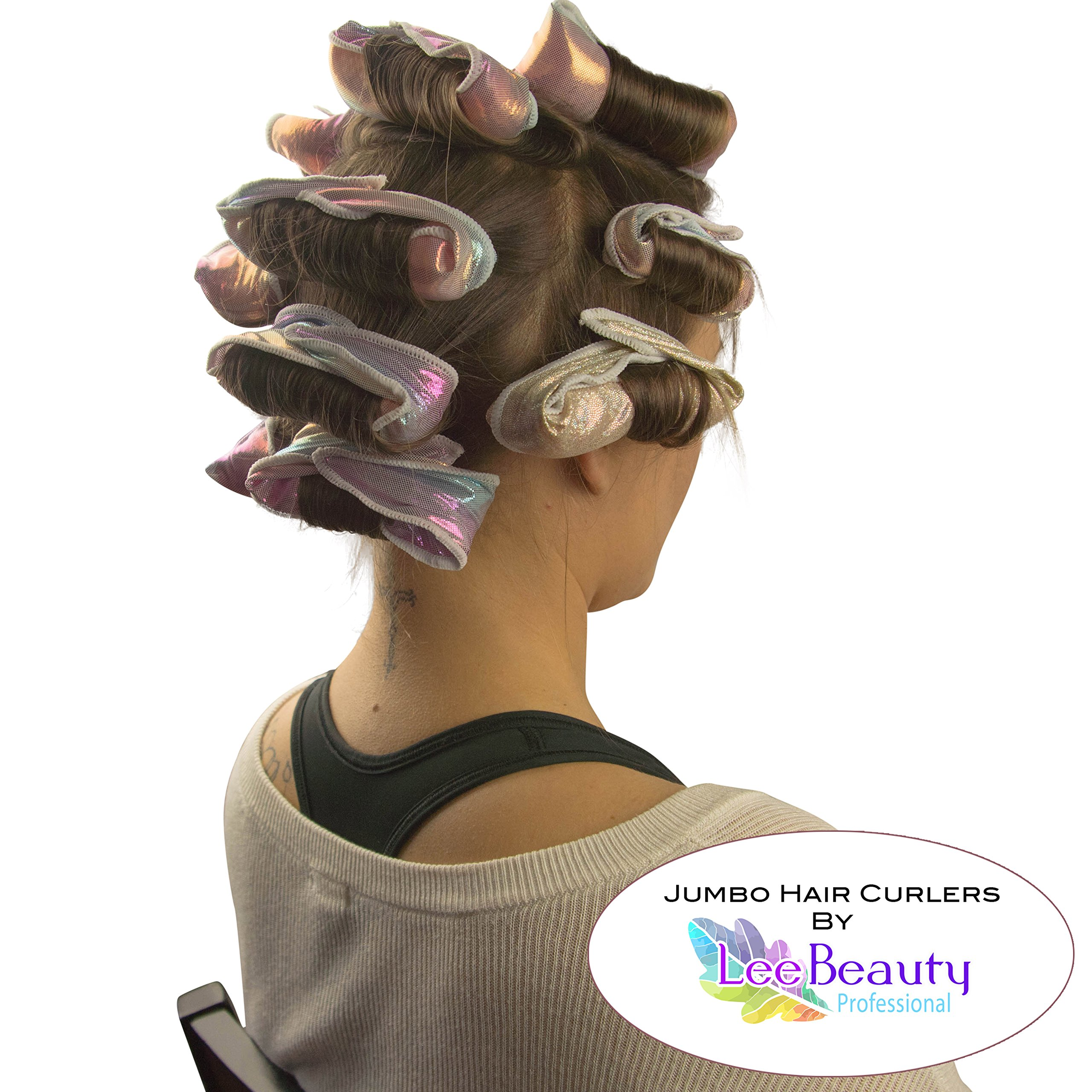Jumbo over night hair curlers for large curls in when you wake up in the morning, Revolutionizing old fashion rods by Lee Beauty Professional (Image #4)