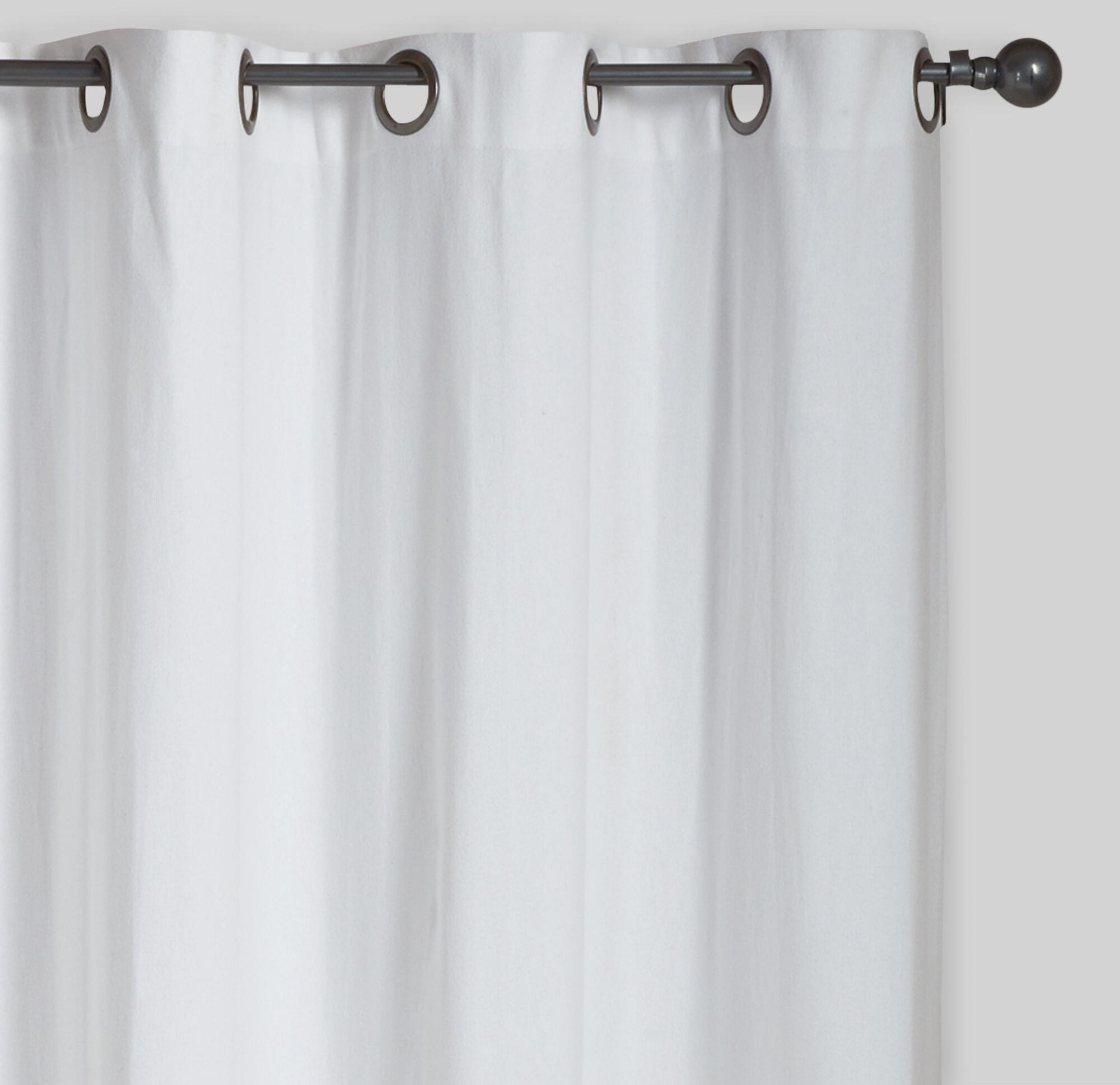 White Parker Grommet Top Curtains, Set of 2 | World Market