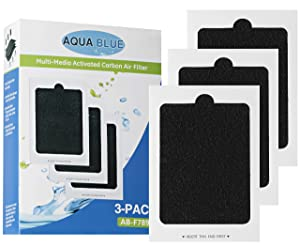Aqua Blue Replacement For Frigidaire Pure Air PAULTRA Electrolux EAFCBF Refrigator Air Filter, (3 Pack)