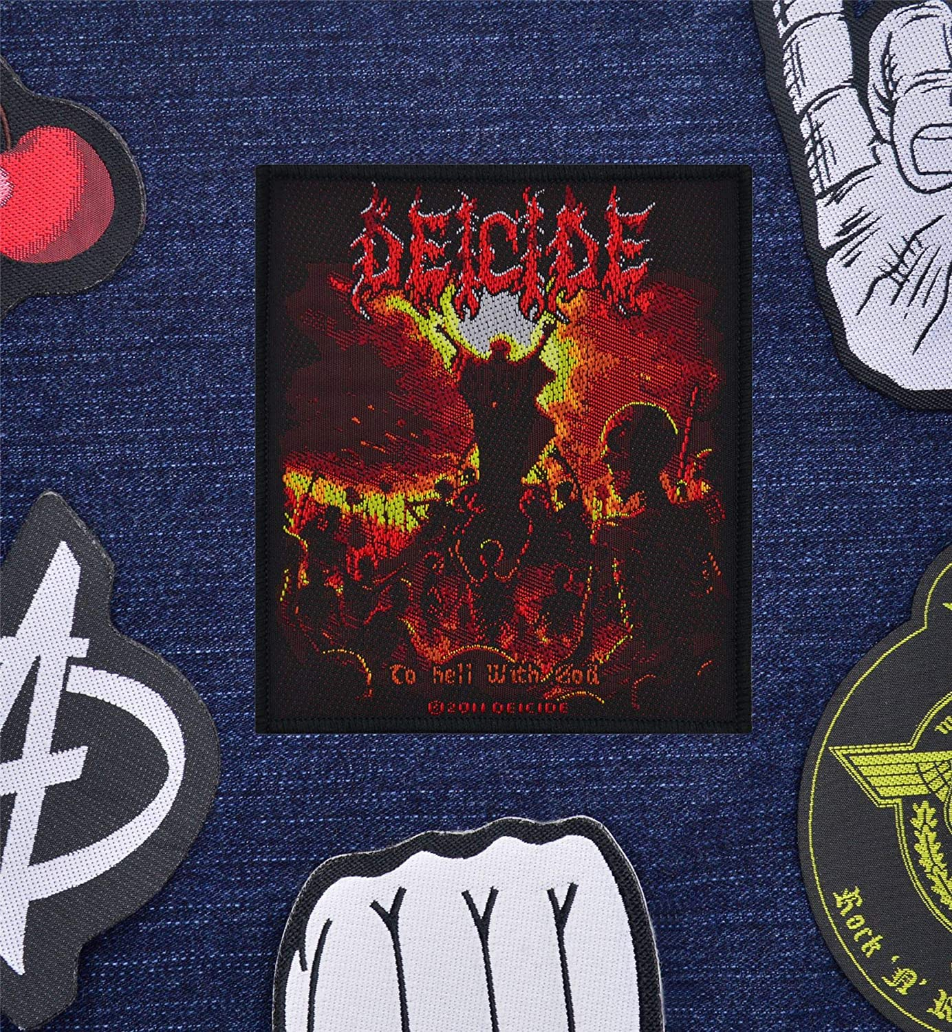 Deicide To Hell With God Woven Patch