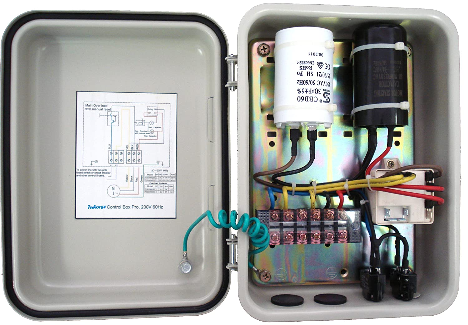 Grundfos Submersible Pump Control Box Wiring Diagram Along With