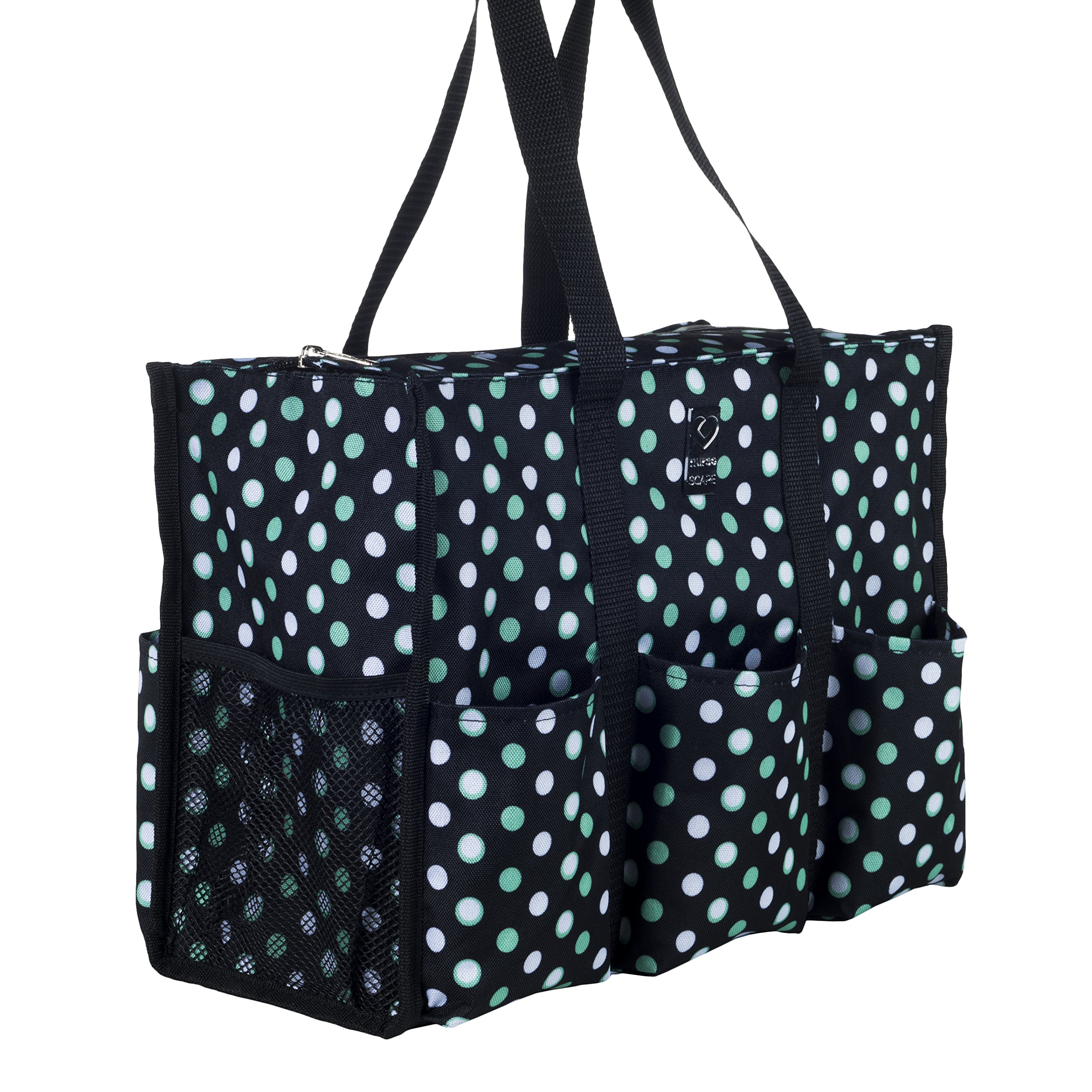 Nursescape Nurse Bag with 13 Exterior & Interior Pockets - Perfect Nursing Tote for Registered Nurses, Nursing Students, Travel Nurses and More (Gradient Dots)