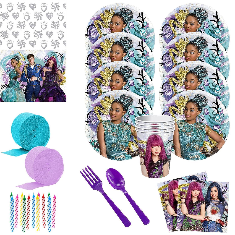 Disney Descendants Deluxe Birthday Party Supply Kit - (Serves 8)