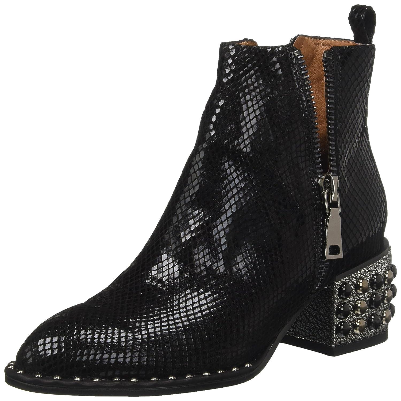 Jeffrey Campbell Boone SST, Zapatos de Cordones Brogue para Mujer 38 EU|Negro (Snake Black)