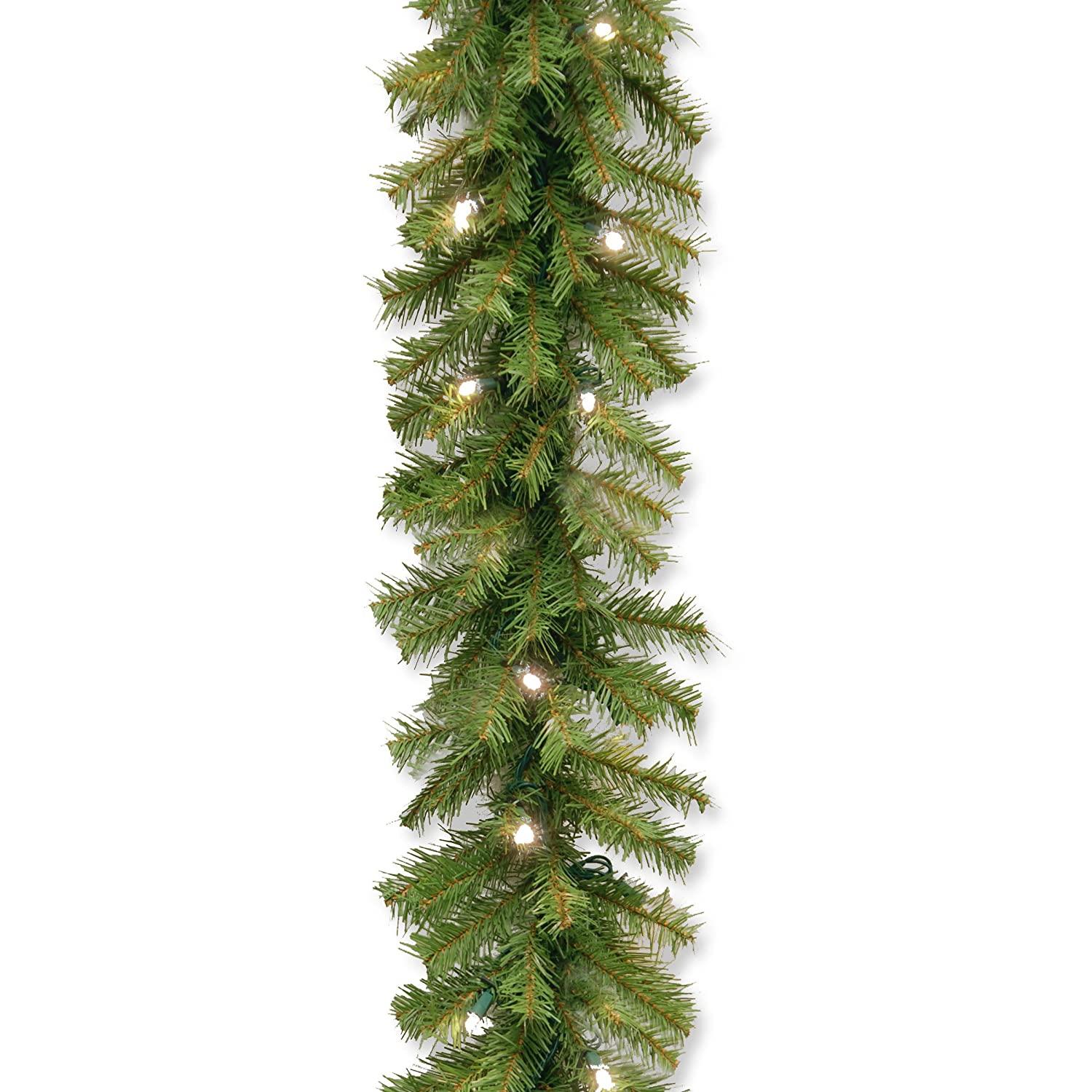 amazon com national tree 9 foot by 10 inch norwood fir garland with