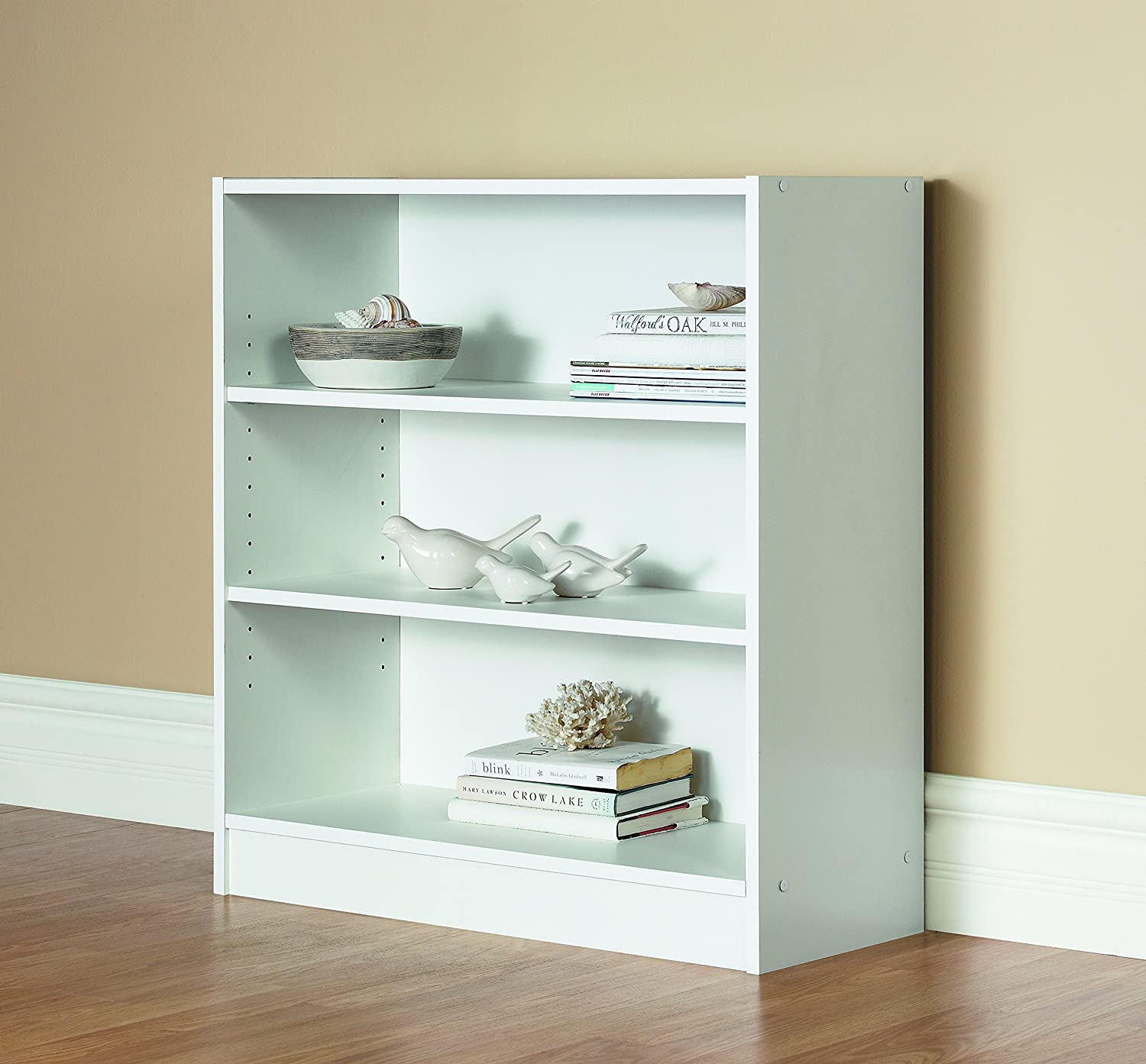 bookcase raw shelf sauder cinnamon cherry