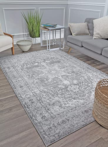 Rugs America Area Rug, 8 0 x 10 0 , Cloudy Grey