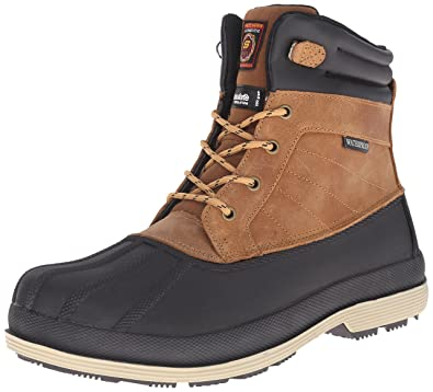 Skechers Work Men's Robards Brown Boot 7 D - Medium,Brown,7 ...