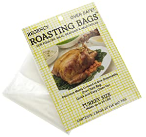 Regency Oven Roasting Bag with oven Safe Twist ties, 2 pack Turkey Size