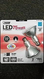 Feit Electric 75 Watt LED PAR30 SPOT ,LED DIMMABLE bright white 3000k uses only 13