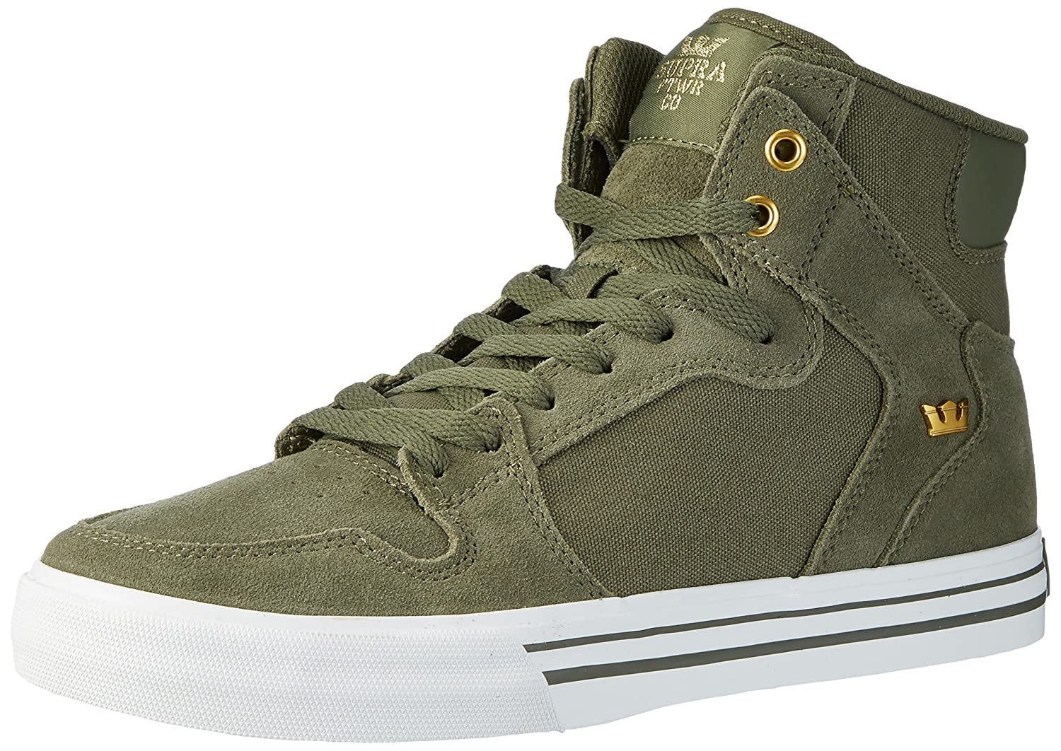 Supra Vaider LC Sneaker Medium / 10 C/D US Women / 8.5 D(M) US Men|Olive/White