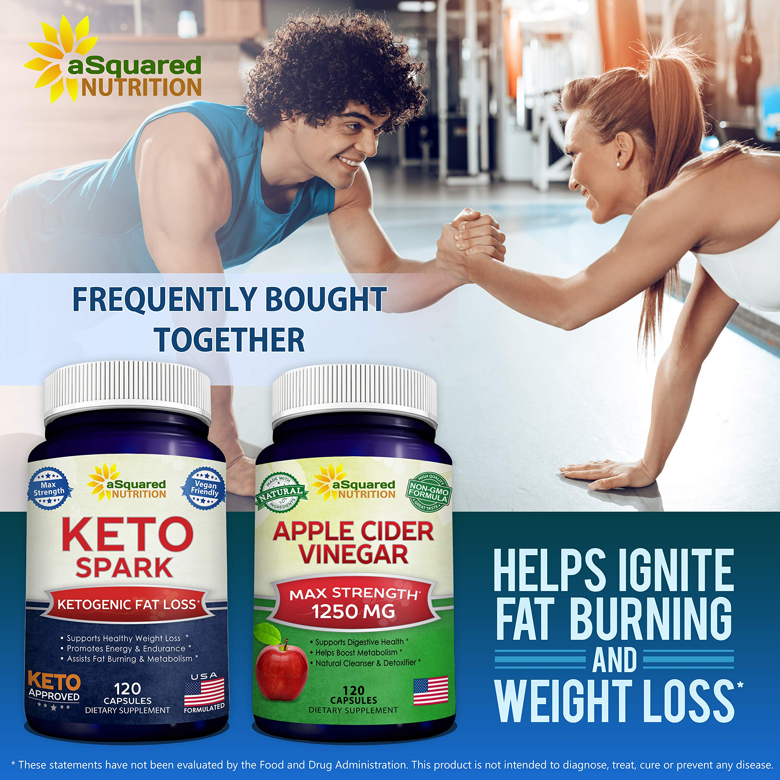 Keto Spark - Supplement for Weight Loss (120 Capsules) - Pills Approved for The Ketogenic & Paleo Diet - Helps Stay in Ketosis, Increase Energy & Focus - Caffeine & Ketones for Women & Men by aSquared Nutrition (Image #7)